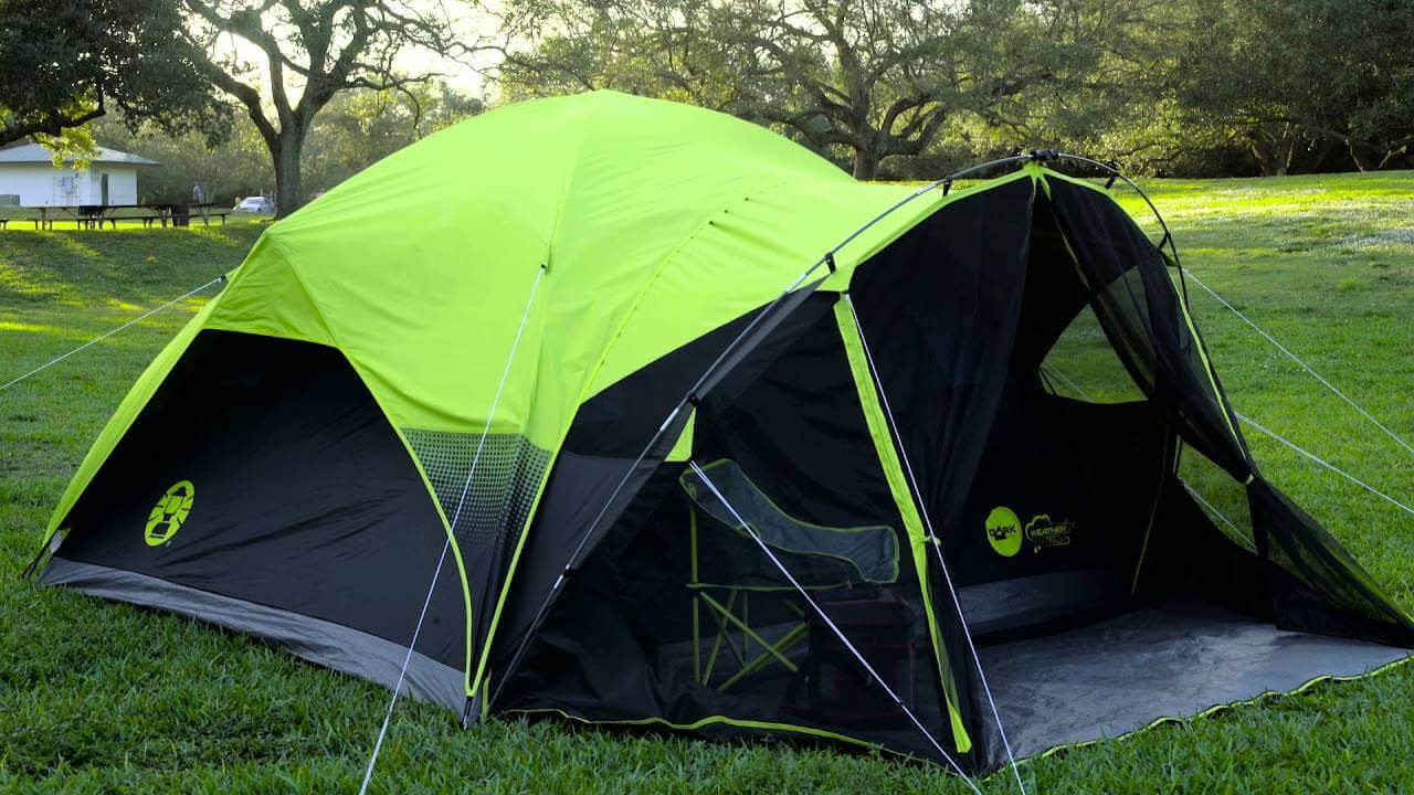Two person tent with camping chairs similar-image