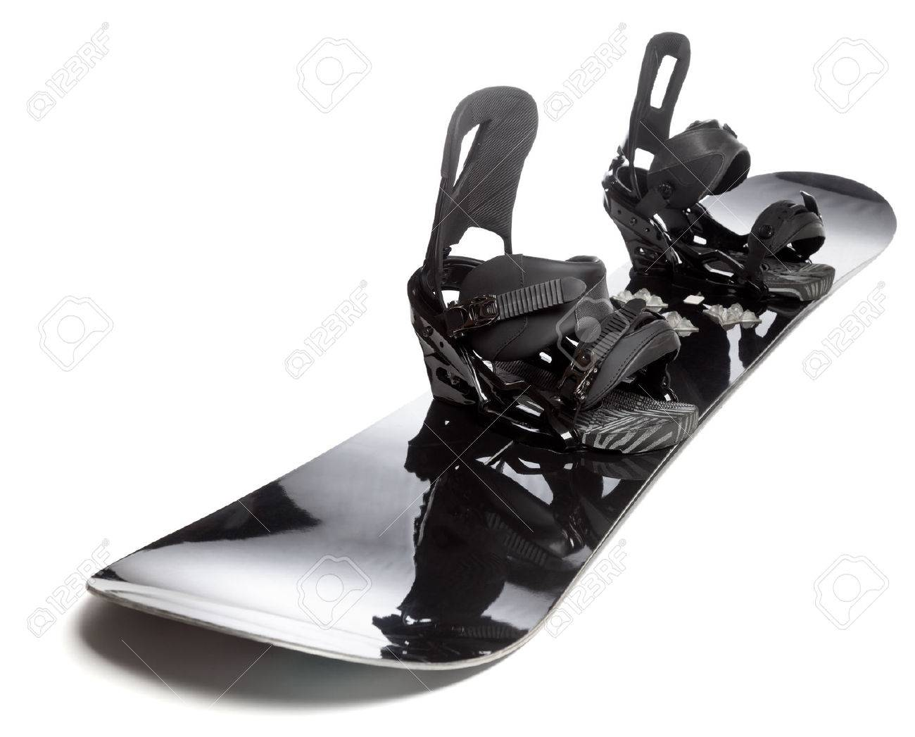 Snowboard with bindings similar-image