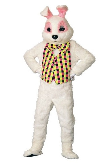 Deluxe White Bunny Mascot Costume similar-image