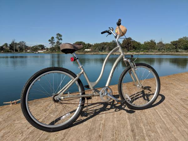 Womans beach cruiser bike similar-image